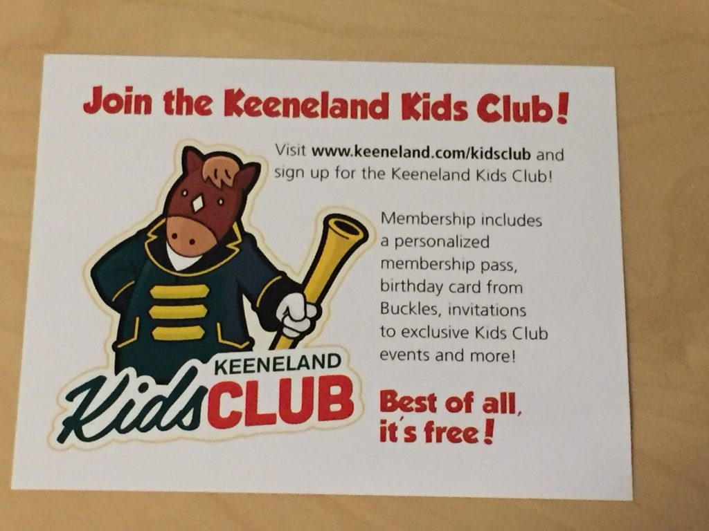 Join Keeneland Kids Club Membership