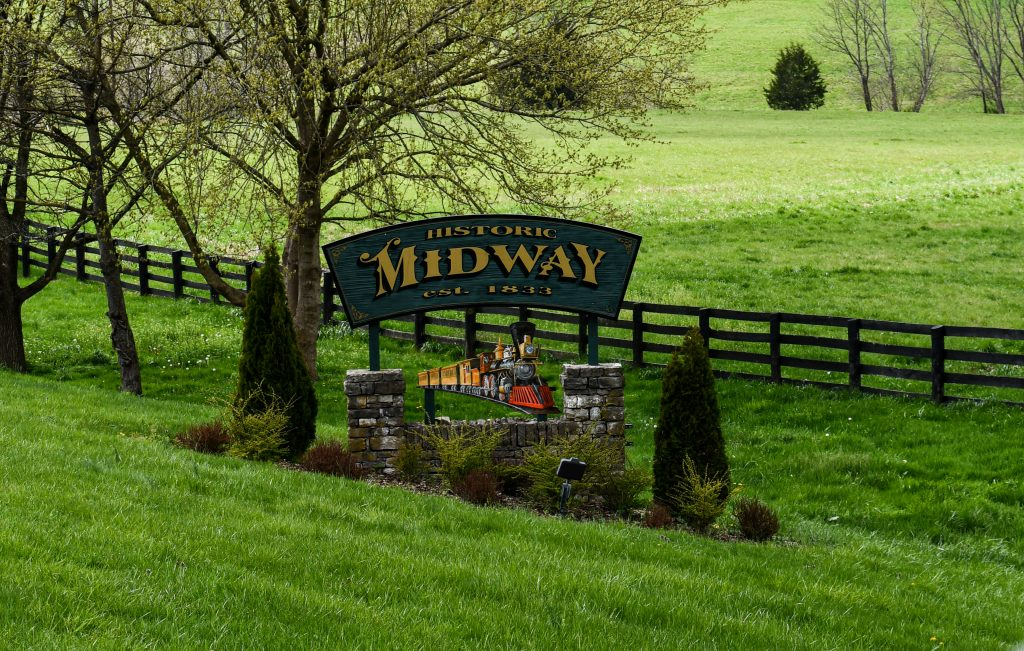 Historic Midway Kentucky Welcome Sign