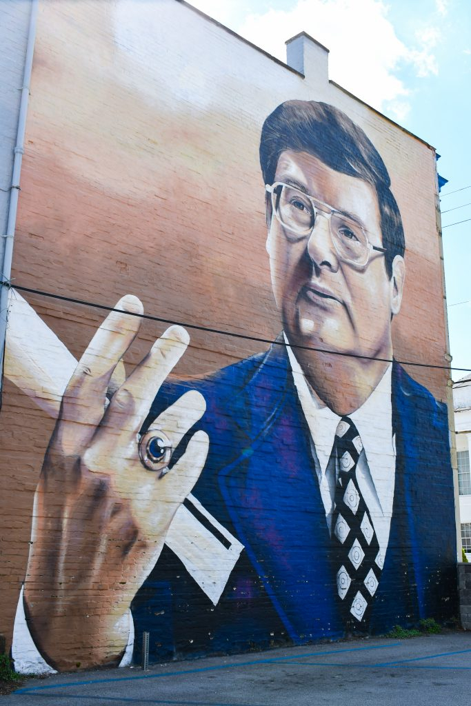 Joe B Hall Mural in Cynthiana Kentucky