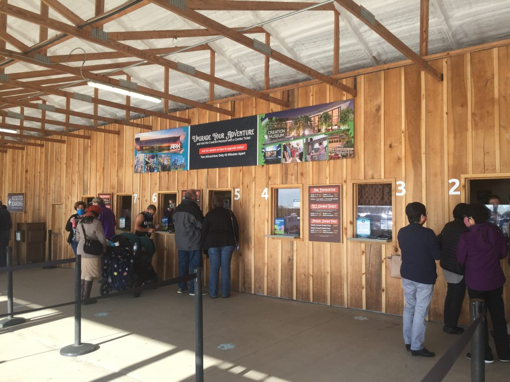 the ark encounter on-site ticket counters