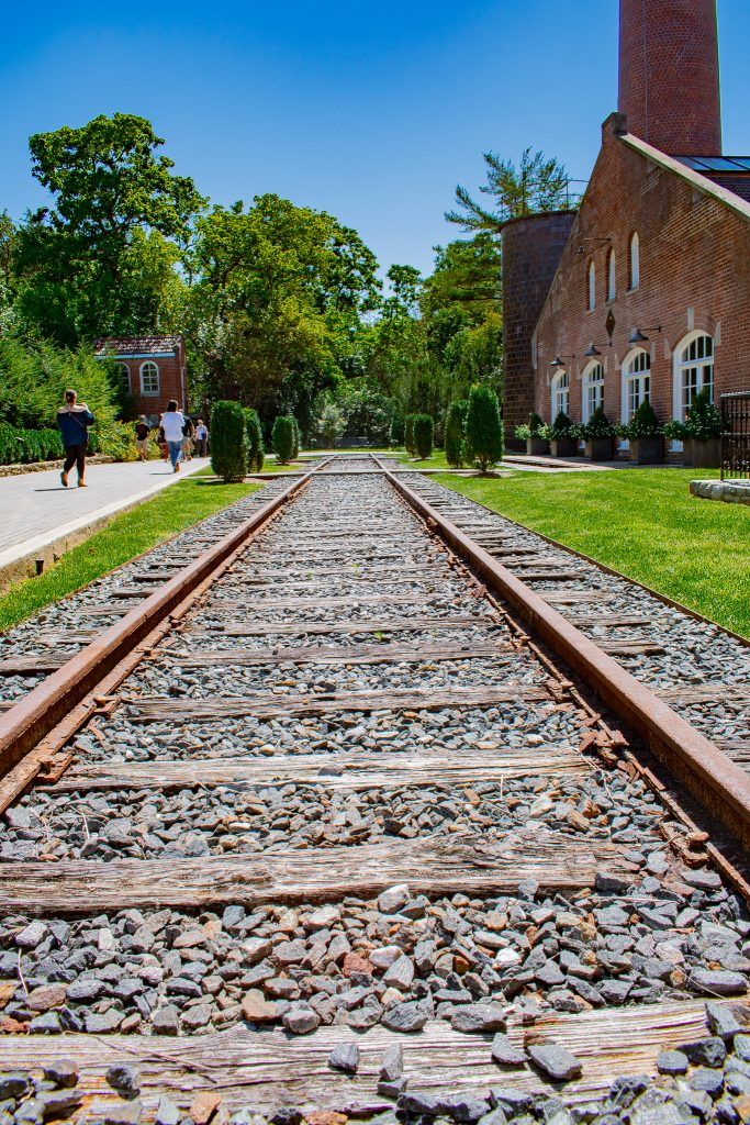 Railroad Tracks at Castle & Key Distillery Frankfort Kentucky