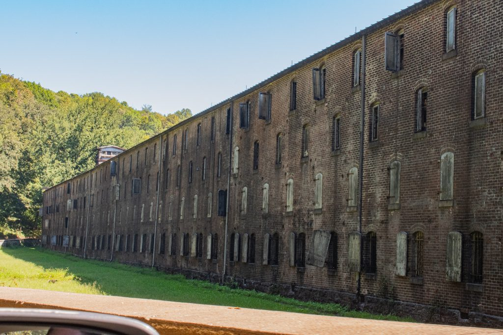 Old rickhouse along our driving tour in Kentucky