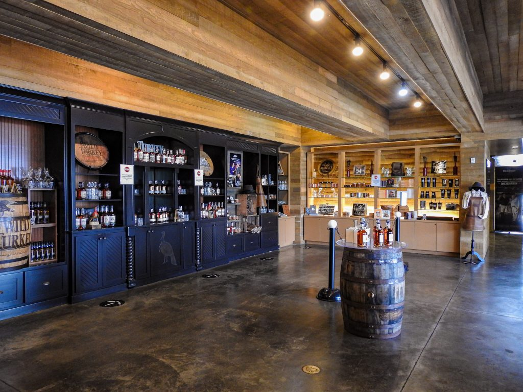 Gift shop at Wild Turkey Distilling
