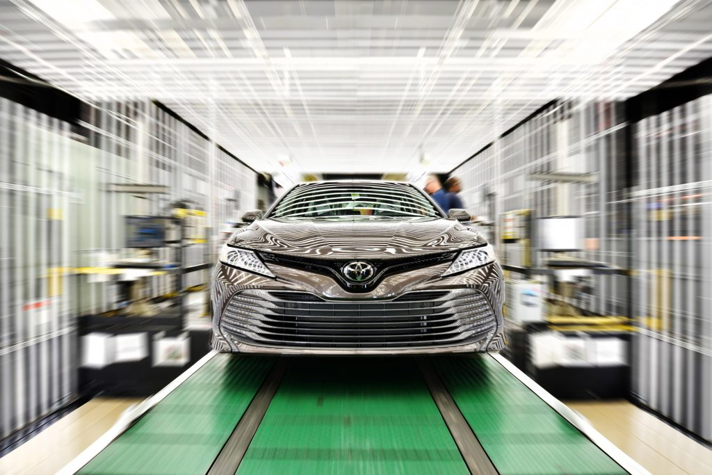 Toyota Camry coming off line