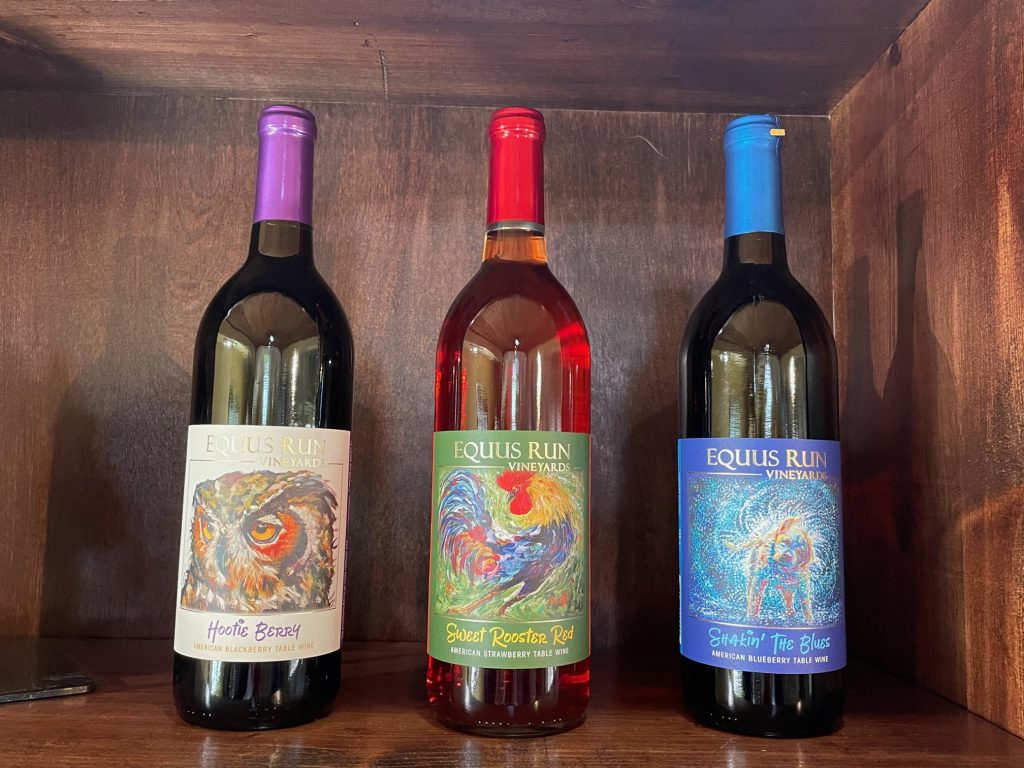 Wines from Equus Run Vineyards in Midway Kentucky